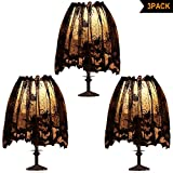 3Pcs Halloween Lamp Shade Cover Decoration, Black Lace Ribbon Spider web Lampshades Cover Topper Scarf for Festive Party Indoor Decor Supplies, Large 20 X 60 Inch Spiderweb Lamp Shade Cover
