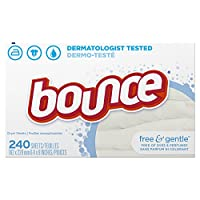 Bounce Fabric Softener Dryer Sheets Free & Gentle 240CT by Bounce