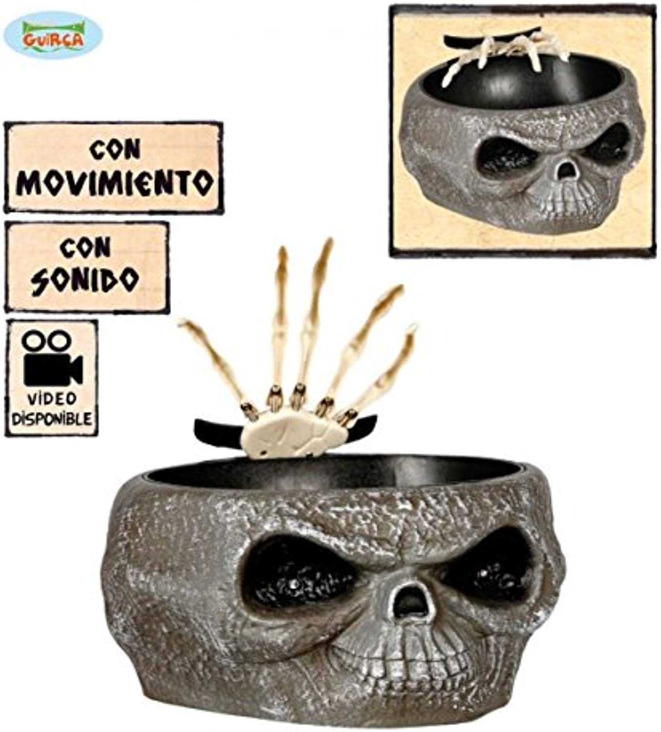 HALLOWEEN PARTY DECORATION TREATS POT WITH SHOCK FANCY DRESS SCARY PROP