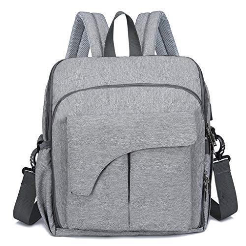haia7k4k Nylon-Wickeltasche mit ergonomischem Design, langlebig, wasserdicht, Wickeltasche für Babystühle, Grau - hellgrau - Größe: Medium
