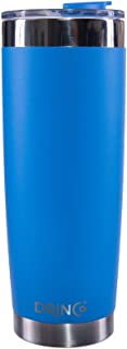 Drinco - Stainless Steel Tumbler | Double Walled Vacuum Insulated Mug With Spill Proof Lid For Hot & Cold Drinks | Blue | Perfect for Hiking, Camping & Traveling | BPA Free | 20oz