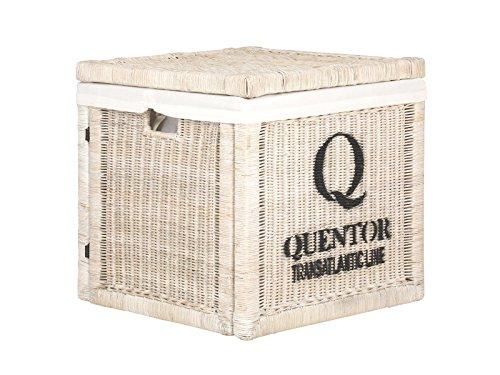 massivum Korb Quenta 50x50x50 cm Rattan weiß lackiert