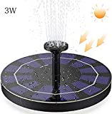 3W Solar Fountain Pump for Bird Bath, with 1200mAh Battery Backup, Free Standing
