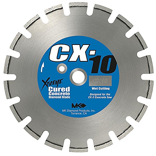 MK Diamond 159616 MK-CX-10 14-Inch Wet Cutting Segmented Saw Blade with 1-Inch Arbor for Cured Concrete