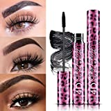 2020 Eyeliner Liquid Long Lasting Black & Mascara Stretch Thick Curly Colorful (One Size, Black)