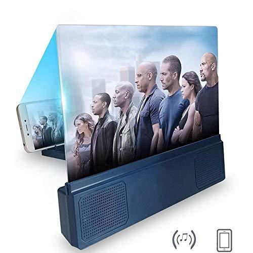 Lupa para pantalla de teléfono de 12 pulgadas con altavoz inalámbrico,pantalla HD con luz azul y amplificador de pantalla grande,soporte para teléfono móvil,proyector de antiradiación para iOS Android