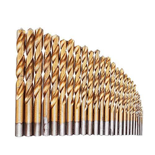 25Pcs M2 Hss 6542 Twist Drill Bit Set Titanium Coated Drill Bit With Metal Box For Wood Metal Drilling 1-13Mm