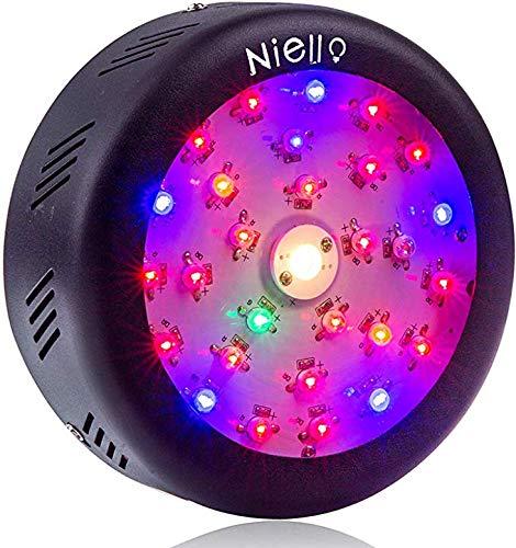 Niello Cree COB Pflanzenlampe 150W UFO Led Grow Light Pflanzenlampe Vollspektrum Led grow lampe mit Schalter UV & IR für Innenanlagen, Hydrokultur, Gewächshaus, Sukkulenten, Blumen, Setzlinge