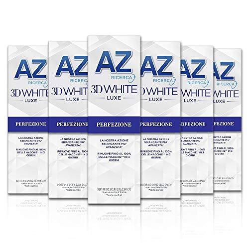 Az Ricerca Dentifricio 3D White Luxe Perfezione, Confezione da 6 Pezzi