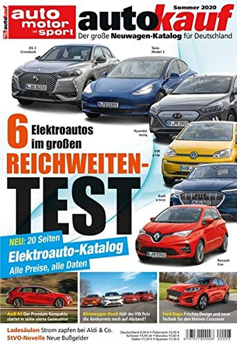 autokauf 03/2020: Der große Neuwagen-Katalog für Deutschland: Der große Neuwagen-Katalog für Deutschland / 6 Elektroautos im großen Reichweiten-Test