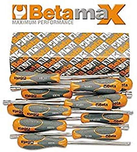Beta 943BX/S12 - Chiavi a Bussola Esagonale con Impugnatura Bimateriale Tipo Lungo - 12 Pezzi