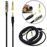 Replacement DJ Audio Cable Cord Wire line DIY for Pioneer HDJ-2000 Reloop RHP-20 AKG Q701 K702 K271 K272 K240S MKII K242 K271s K240s K267 k141 k171 K181 EK300 EK500S Headphones