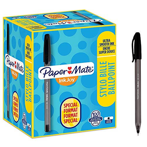 Paper Mate S0977410 InkJoy 100ST Kugelschreiber, mittlere Spitze - 100er-Packung, schwarz
