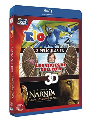 Pack 3D: Rio/ Viajes De Gulliver/ Narnia / Rio 3D / Gulliver's Travels 3D / The Chronicles of Narnia: The Voyage of the Dawn Treader 3D (3D) (Blu-Ray)