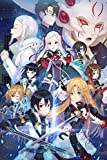 Sword Art Online Poster Anime Posters Painting Decoration Japanese Anime Wall Art for Boys Bedroom,Unframed Version (16