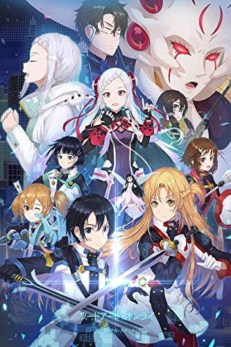Sword Art Online Poster Anime Posters Painting Decoration Japanese Anime Wall Art for Boys Bedroom,Unframed Version (16' x 24') (Naruto) (Sword Art Online)
