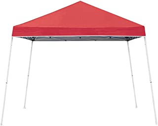 Z-Shade 10' x 10' Angled Leg Instant Shade Canopy Tent, Red