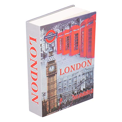 Diversion Book Safe con Llave London Book Caja de Almacenamiento Segura Caja de Libro de Imitación Almacenamiento Oculto Diccionario Secrect Caja de Seguridad Oculta con Cerradura para Oficina en Casa