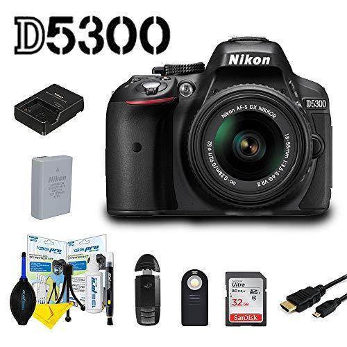 For Sale! Nikon D5300 DSLR Camera with AF-P DX NIKKOR 18-55mm f/3.5-5.6G VR Lens + 32 GB Sunshine Bundle