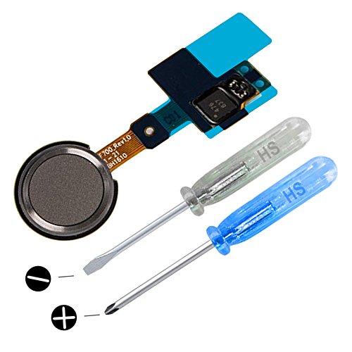 MMOBIEL Repuesto Botón de Inicio Sensor de identificación Dactilar (Touch ID) Compatible con LG G5(Negro/Gris) con Cable Flex Incl 2 x Destornilladores