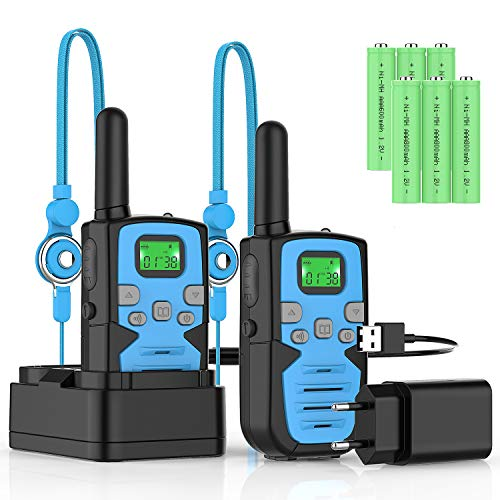 Walkie Talkie Recargable Largo Alcance Marca Bobela