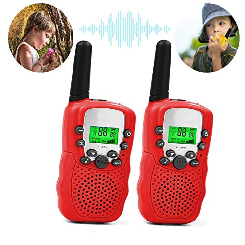 Fun Toy Toys for 7 8 Year Old Boys, Long Range Kids Walkies Talkies for Outdoor Travel Hunting Boy Gifts Age 3-12 Girls &Gifts Age 3-12(Red)