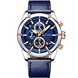 Mini Focus Fashion orologio da uomo sport impermeabile orologio con cinturino in pelle calendario data orologi Business quarzo Orologio da polso per gli uomini