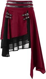 Vestido Estilo Steampunk Victoriano Estilo Steampunk con Falda Alta de Gasa gótica de Cintura Alta para Mujer