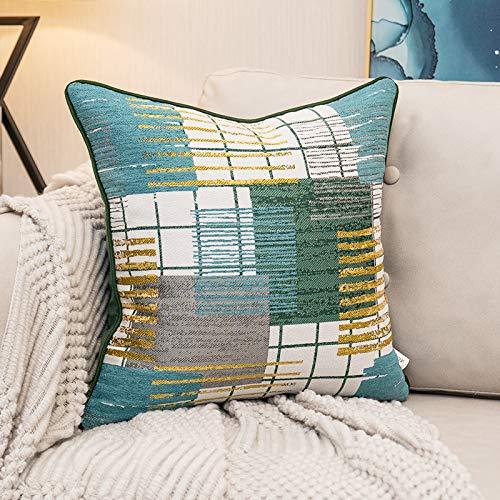 Federe cuscini divano copricuscini cuscini decorativiCiniglia blu arancione stile mediterraneo federa quadrata divano soggiorno decorazione casa cuscino federa coreless 50 cm