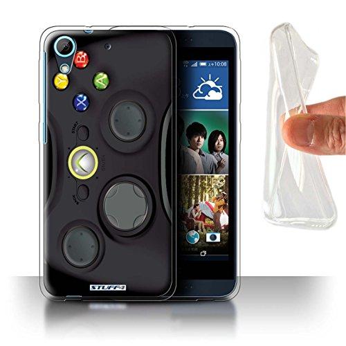Hülle Für HTC Desire 626G+ Spielkonsolen Schwarz Xbox 360 Design Transparent Dünn Flexibel Silikon Gel/TPU Schutz Handyhülle Case