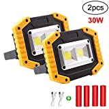 LED Work Light Rechargeable Floodlight, 30W Waterproof Floodlight Work Lights Camping Lights