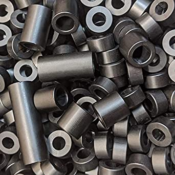 9//16 Length, 10 Aluminum Spacer 3//8 OD x 1//4 ID x Many Lengths Round by Metal Spacers Online
