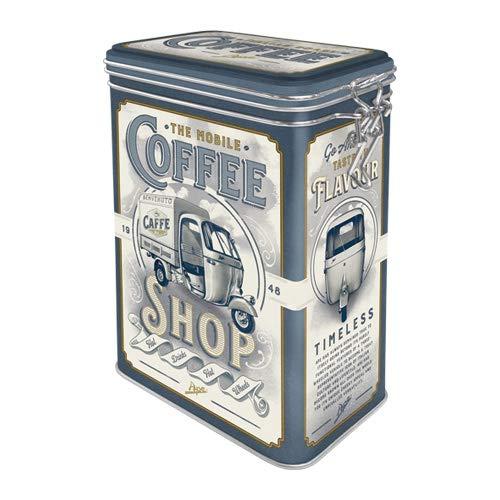 Nostalgic-Art Retro Kaffeedose - APE - Coffee Shop, Blech-Dose mit Aromadeckel, Vintage Geschenk-Idee für APE-Fans & Kaffee-Liebhaber, 1,3 l
