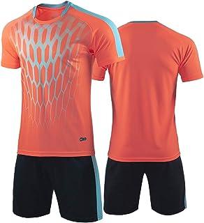 Rugby clothing boutique Q, Fútbol Jersey fijaron for los niños Formación del equipo de la competencia deportiva de manga corta camiseta, pantalones cortos y calcetines Uniforme de fútbol, Adulto de deporte
