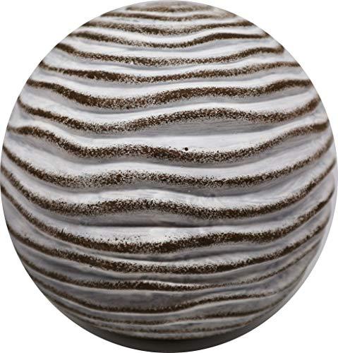 Homestyle & more Kugel Rosina Wellen Terrakotta grau