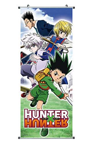 CoolChange Großes Hunter x Hunter Rollbild | Kakemono aus Stoff | Poster 100x40cm | Motiv: Gon, Kurapika & Killua