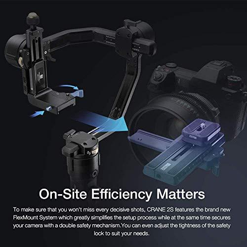 Zhiyun Crane 2 Follow Focus 3-Axis Handheld Gimbal, Buy Crane-2 Get Free Servo Follow Focus, 7lb Payload OLED Display 18hrs Runtime 1Min Toolless Balance Adjustment for Camera Weighing 1.1 to 7lb