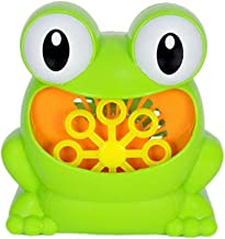 YeahiBaby Automatic Bubble Machine with Music Bubble Blower Maker Party Summer Outdoor Toy for Kids Not Included Battery (Frog Pattern)