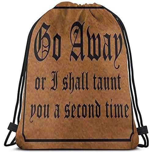 Bolsas con cordón de Gimnasio Go Amap or Taunt A Secona Time...