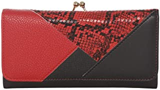 Haute Curry by Shoppers Stop Womens Twist Clasp Closure Clutch (Red_Free Size)