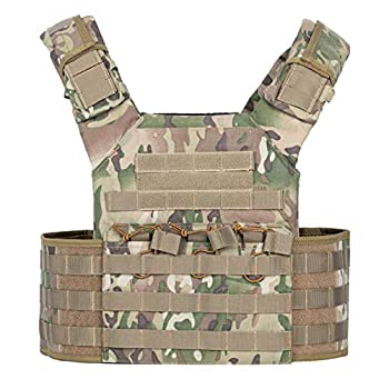 VISMIX Tactical Vest Adjustable Molle Military Vest for Men