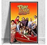 ZJYWYCN Póster Que Muestra los años 70, Serie de TV clásica, póster...