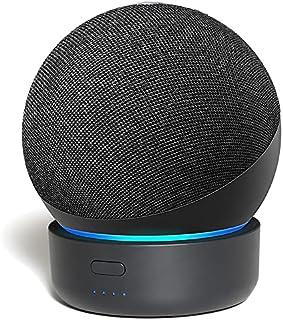 Base de bateria para Alexa Echo Dot 4ª geração, carregador de bateria portátil GGMM D4 para Echo Dot, acessórios para alt...