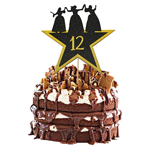 Hamilton Cake Topper 12, Happy 12th Birthday Hamilton Cake Topper for 12 Years Old Boy Girl American Musical Hamilton Birthday Party Decorations