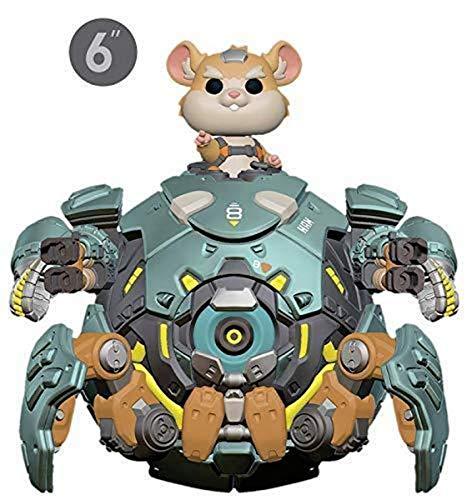 """Funko- Pop Vinilo: Overwatch S5: 6"""" Wrecking Ball Figura Coleccionable, Multicolor (37432)"""