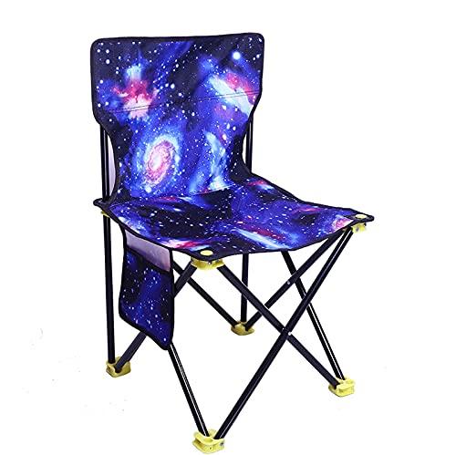 MCKEYEN Outdoor Leisure Klappstuhl Tragbarer Angelstuhl Art Sketch Painting Chair Verwendet Für Familientreffen Camping Picknick Barbecue Wandern Usw,small