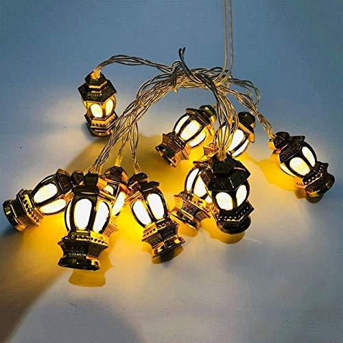 Volar Boda de la linterna de cuerda Garland Light 4M LED Golden Lantern fiesta de Navidad 220V Luz secuencia de hadas del jardín al aire libre Patio 20 (Emisión de color: blanco cálido, Potencia: 4M 2