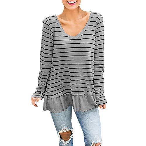 Blusas Camisetas de Gasa Ropa de Mujer Camisas Manga Ajustable Blusas Top