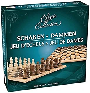 Asmodé Jeu d'échecs & Jeu de Dames ( en Bois Massif )