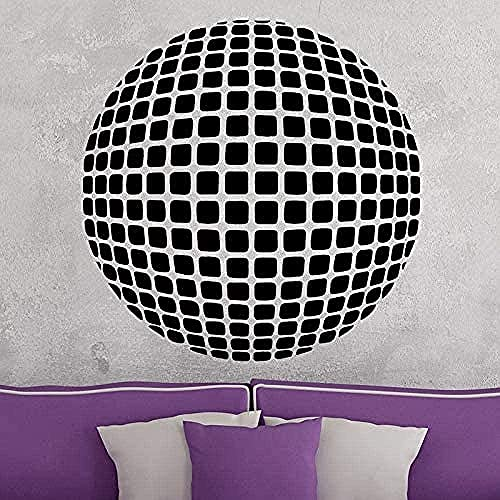 jjyyy Pegatinas de Pared de Vinilo Pegatinas Creativas patrón de Esfera geométrica Autoadhesivo Dormitorio Deportes Papel Tapiz Sala de Estar Arte Pared PVC58cmx58cm